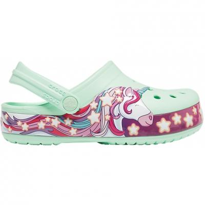 Crocs for FunLab Unicorn Band Cg K green 206270 3TI pentru Copil