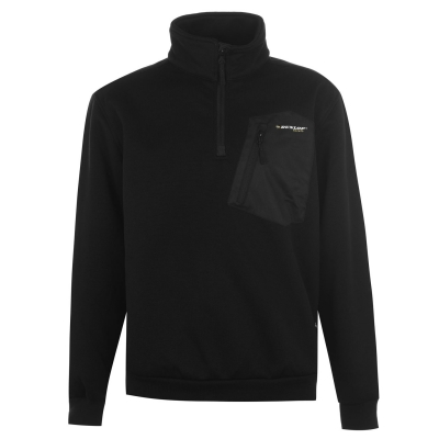 Dunlop Knitted quarter Zip Top pentru Barbati