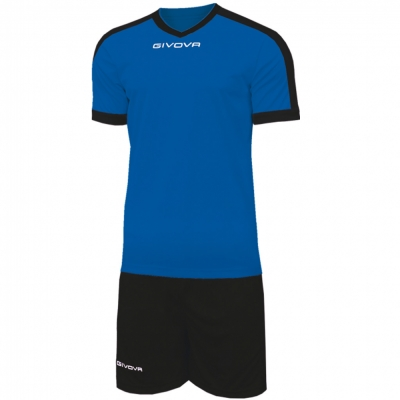 Echipament fotbal KIT REVOLUTION Givova albastru negru