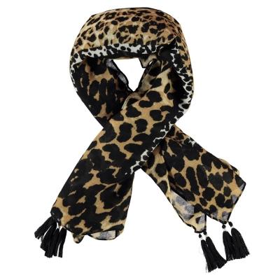 Oui Oui Leopard Print Scarf