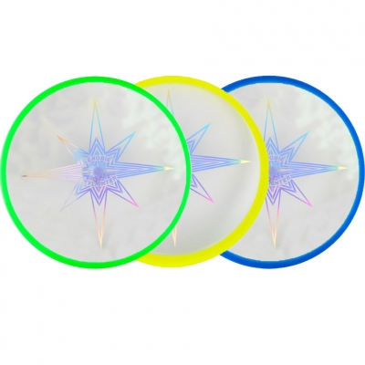 Frisbee Plate Aerobie Skylighter 3 col green yellow blue 6046475