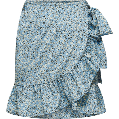 Only Print Wrap Skirt