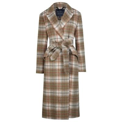 Geaca Jack Wills Blythe Longline Check Robe With Wool