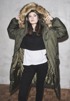 Geaca Oversize Faux Fur Puffer pentru Femei Urban Classics