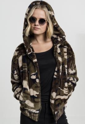 Jachete Camo Teddy pentru Femei Urban Classics