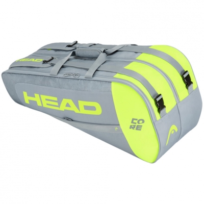 Geanta Head Core 6R Combi tennis gray-lime 283401