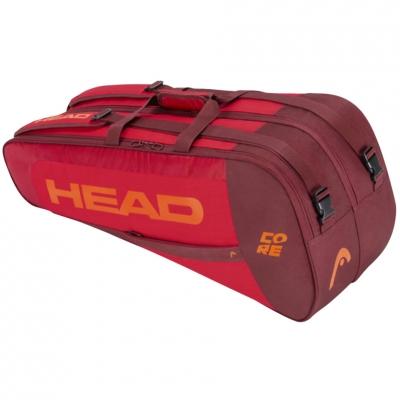 Geanta Head Core 6R Combi tennis red-maroon-orange 283401