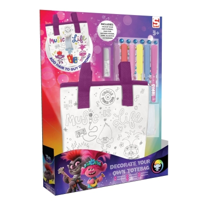 Geanta Trolls Colour Your Own Tote