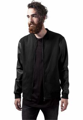 Jachete Zipped din piele Imitation Sleeve Urban Classics