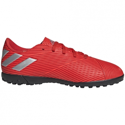 Ghete fotbal adidas Nemeziz 19.4 TF JR red F99935