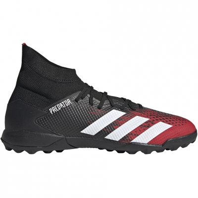 Ghete fotbal Adidas Predator 20.3 TF black and red EF2208