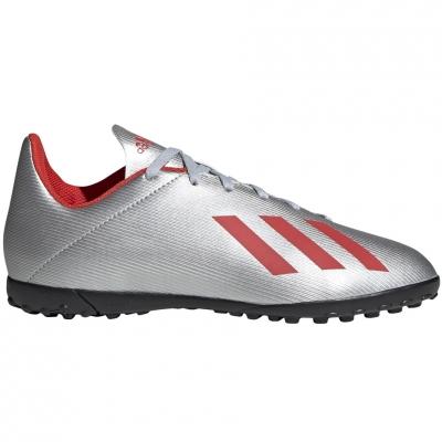Ghete fotbal adidas X 19.4 TF JR silver F35348