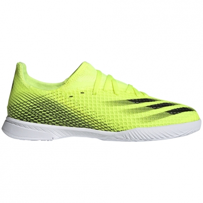 Ghete fotbal adidas X Ghosted.3 IN Yellow-Black-White FW6924 Junior