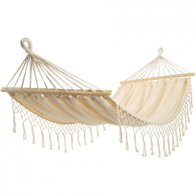 Hammock with frie? with brush for 1 person 200x100cm Maiami nature white 1031200 Royokamp