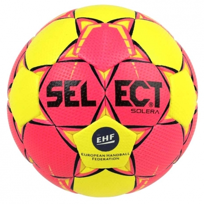 Handball Select Solera mini 0 2018 pink-yellow 16210