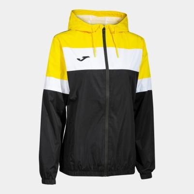 Crew Iv Rainjacket Black-yellow Joma