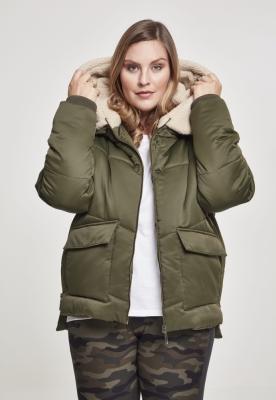 Jachete Sherpa Hooded pentru Femei Urban Classics