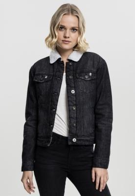 Jachete Sherpa Denim pentru Femei Urban Classics