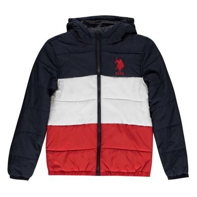 Jachete US Polo Assn Padded Colour Block de baieti Junior