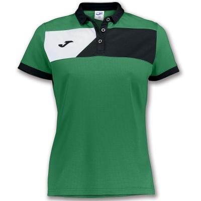 Polo Crew Ii S/s Green-black pentru Femei Joma