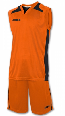 Set Cancha Orange Jersey+short Joma