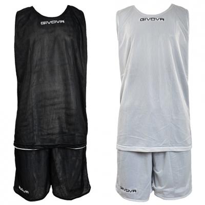 KOMPLET BASKETBALL GIVOVA DOUBLE BLACK AND WHITE