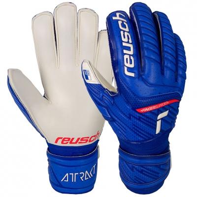 Manusi Portar Reusch Attrakt Grip Finger Support blue-white 5170810 4011