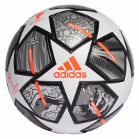 Adidas Finale 21 soccer ball 20th Anniversary UCL League white-silver-orange-black GK3468 adidas teamwear