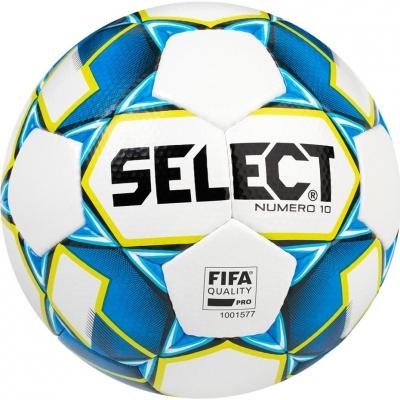 Minge Fotbal Select Numero 10 FIFA 5 2019 white blue yellow 15007
