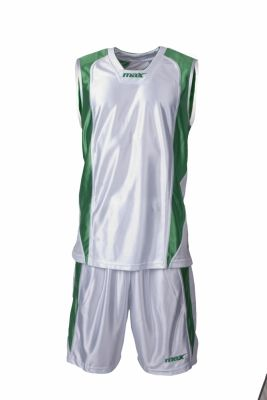 Set baschet Nairobi Bianco Verde Max Sport pentru baschet