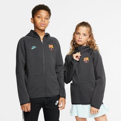Bluze Hanorace cu fermoar Nike FC Barcelona Nikesportswear Tech de baieti Junior