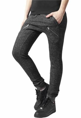 Pantaloni sport Zipped Melange pentru Femei Urban Classics