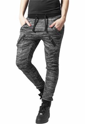 Pantaloni sport Fitted Melange Zip pentru Femei Urban Classics