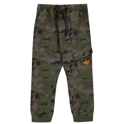 Pantaloni Firetrap Camo Cargo de baieti Junior