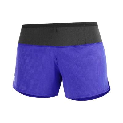 Pantaloni Scurti Alergare Femei Salomon SENSE SHORT W Albastru