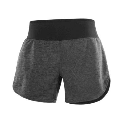 Pantaloni Scurti Alergare Femei Salomon XA 2IN1 SHORT W Gri