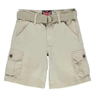 Pantaloni scurti Lee Cooper Belted Cargo de baieti Junior