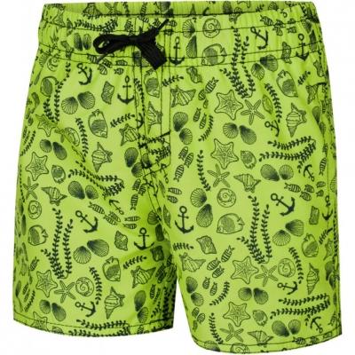 Pantaloni scurti pentru baie Boy's Aqua-Speed FINN Shells green