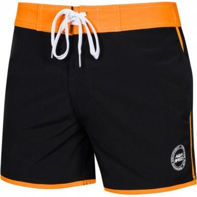 Pantaloni scurti pentru baie for men Aqua-Speed Axel black / orange kol.01