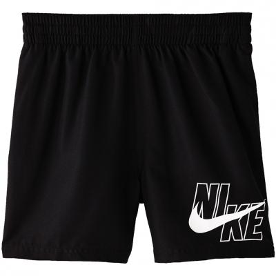 Pantaloni scurti pentru baie Nike Logo Solid Lap 's black NESSA771 001 Junior Copil