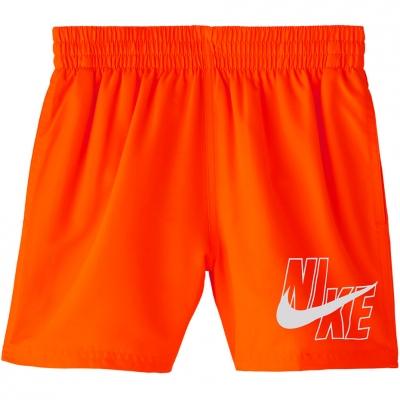 Pantaloni scurti pentru baie Nike Logo Solid Lap 's orange NESSA771 822 Junior Copil