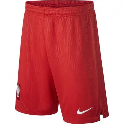 Pantaloni scurti for Nike Poland Breathe Stadium Away red 940462 611 Junior Copil