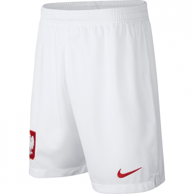 Pantaloni scurti Nike Poland Breathe Stadium Home for white 894016 100 Junior pentru Copil
