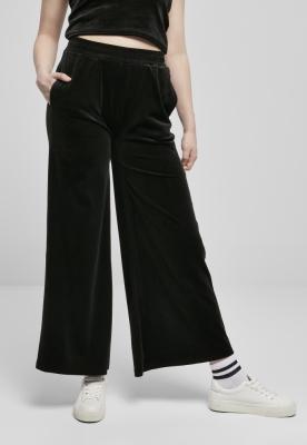 Pantaloni sport High Waist Straight Velvet pentru Femei Urban Classics
