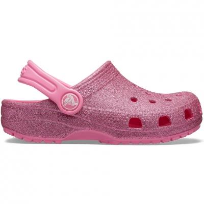 Crocs for Classic Glitter Clog pink 205441 669 pentru Copil
