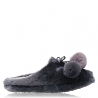 Papuci Casa Dunlop Lottie Faux Fur pentru Femei