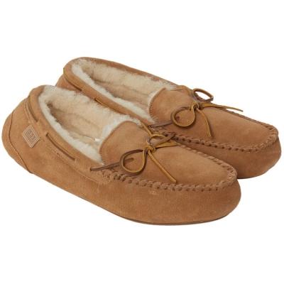 Papuci de Casa Just Sheepskin Torrington Mocassin