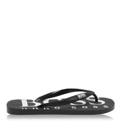 BOSS Rubber Logo Flip Flops