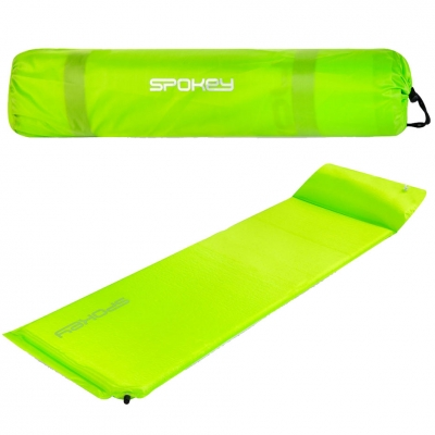 Self-inflating mat with a pillow? Spokey Savory Pillow green 927851