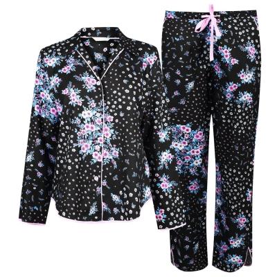 Cyberjammies Hannah Ditsy Floral Print Pyjama Set